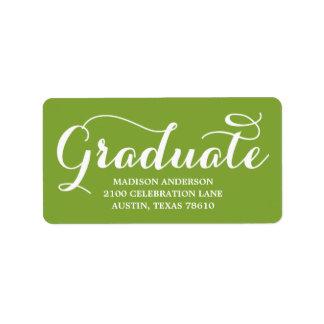 最も甘い卒業生 の卒業の宛名ラベル ラベル
