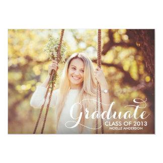 最も甘い卒業生%PIPE%の卒業の招待状 カード