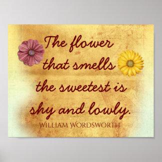 最も甘い花-ウィリアム・ワーズワースの引用文 ポスター