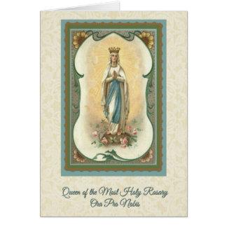 最も神聖な数珠カードw/prayerの女王 カード
