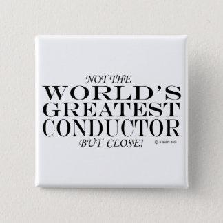 最も素晴らしいコンダクターの終わり 5.1CM 正方形バッジ