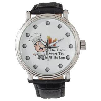 最も素晴らしく甘い茶を持つおもしろいなシェフ 腕時計