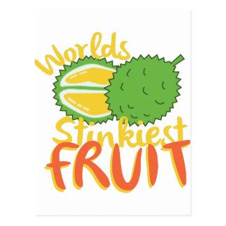 最も臭いフルーツ ポストカード
