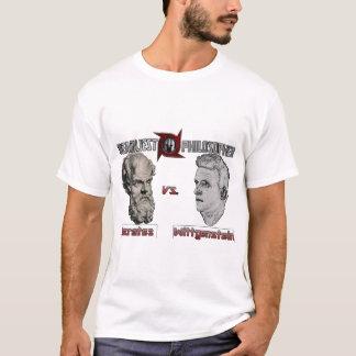 最も致命的な哲学者のパロディの人のティー Tシャツ