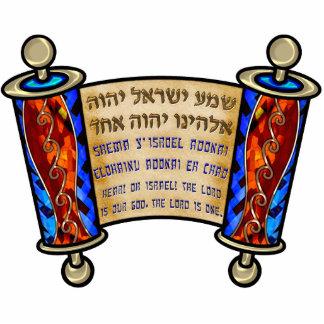 最も重要なユダヤ人の祈りの言葉、Shema 写真彫刻マグネット