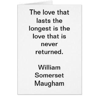 最も長いの持続させる愛は愛tha…です カード