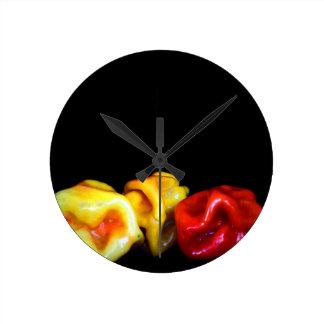 最下のイメージの3つのhabaneros ラウンド壁時計