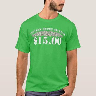 最低賃金$15 Tシャツ