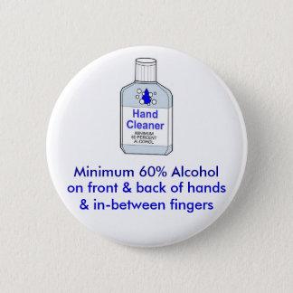 最低60%アルコール 缶バッジ