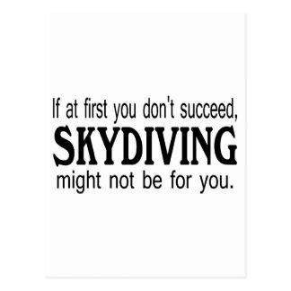 最初にあなたで成功してはいけないSkydivingはかもしれました…. ポストカード