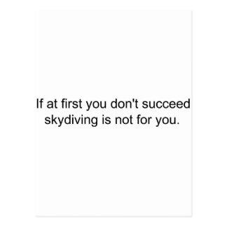 最初にあなたで................成功してはいけない ポストカード