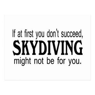 最初にあなたでSkydivingを成功してはいけない ポストカード
