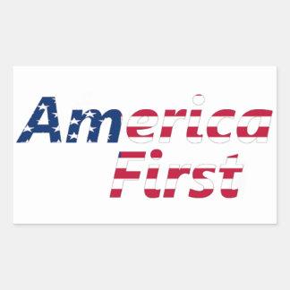 最初にアメリカ 長方形シール
