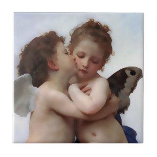 最初にキスの天使の天使のギフトのタイル タイル