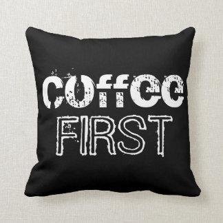 最初にコーヒー クッション