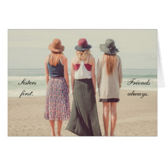 最初に姉妹、常の友人の…挨拶状 カード