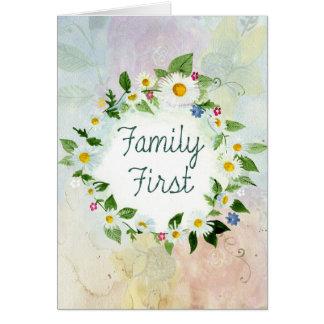 最初に家族の感動的な引用文 カード
