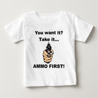 最初に弾薬 ベビーTシャツ