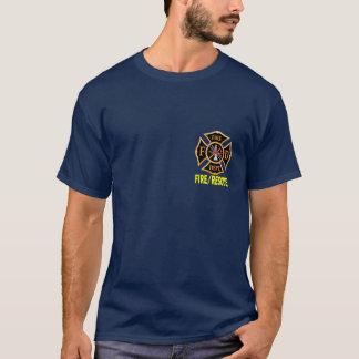 最初に火Deptの義務のワイシャツでカスタマイズ可能 Tシャツ