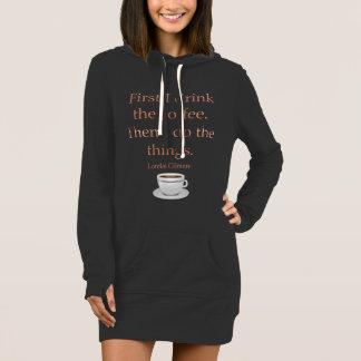 最初に私はコーヒーを飲みます ドレス