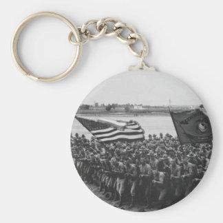 最初に-米国の海兵隊員- 1918年を戦うため キーホルダー