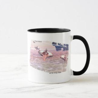 最初にB. Crisp著波の空想科学小説の芸術のマグ マグカップ