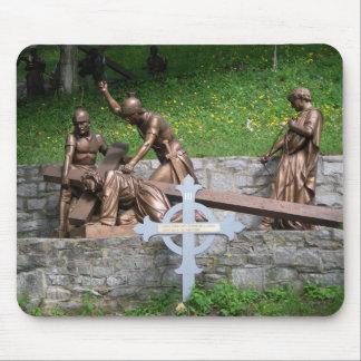 最初のイエス・キリストの滝の-第3場所 マウスパッド