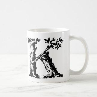 最初のマグ-手紙「K コーヒーマグカップ