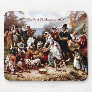 最初の感謝祭1621年。 ファインアートのマウスパッド マウスパッド