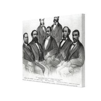 最初の着色された上院議員および代表 キャンバスプリント