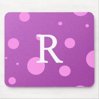 最初の紫色の水玉模様のマウスパッド マウスパッド