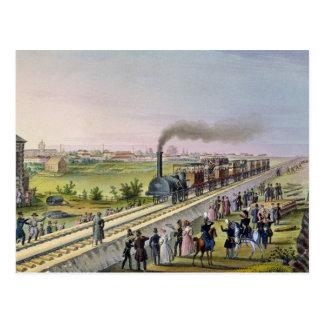 最初の鉄道の開始 ポストカード