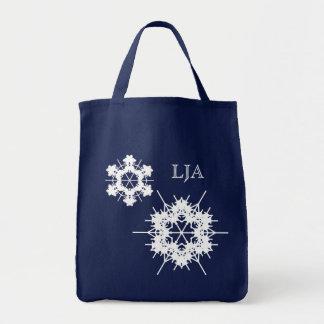 最初の雪片のバッグのテンプレート トートバッグ