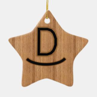 最初のDのブランド-木の動揺D セラミックオーナメント