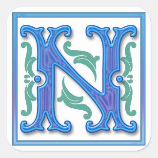 最初のN -手紙N スクエアシール