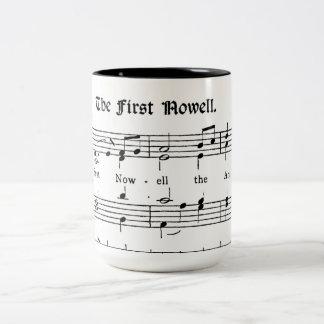 最初のNoelの古いプリントの楽譜のコーヒー・マグ ツートーンマグカップ