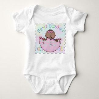 最初イースター民族の女の赤ちゃんの乳児のクリーパー ベビーボディスーツ