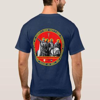 最初クルセーダーのシールのワイシャツ Tシャツ