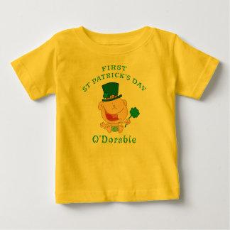 最初セントパトリックの日のTシャツ ベビーTシャツ