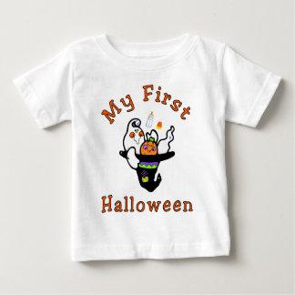 最初ハロウィンのベビーのTシャツ ベビーTシャツ