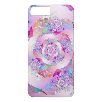 最初バラの素晴らしいフラクタルの芸術 iPhone 8 PLUS/7 PLUSケース
