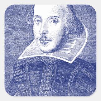 最初フォリオからのウィリアム・シェイクスピアのポートレート 正方形シール