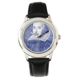 最初フォリオからのウィリアム・シェイクスピアのポートレート 腕時計