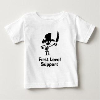 最初レベルサポートを略奪して下さい ベビーTシャツ