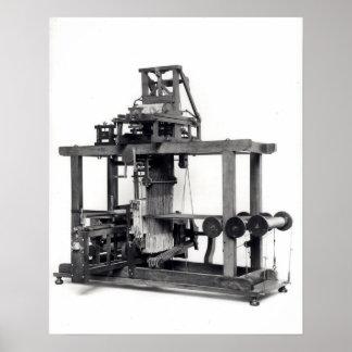 最初十分に自動化された織機 ポスター