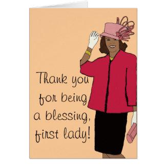 最初女性ありがとう カード