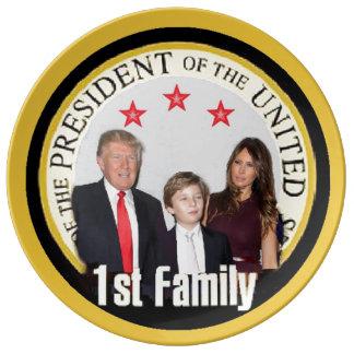 最初家族を切札で取って下さい 磁器プレート