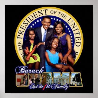 最初家族オバマ ポスター