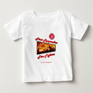 最初応答機の消防士 ベビーTシャツ