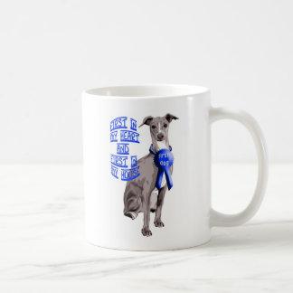 最初犬のイタリアン・グレーハウンド コーヒーマグカップ